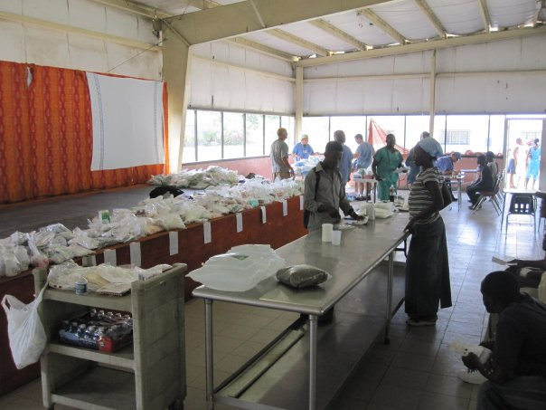 Coordinating food distribution at double harvest