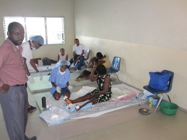 Doctors and nurses providing care