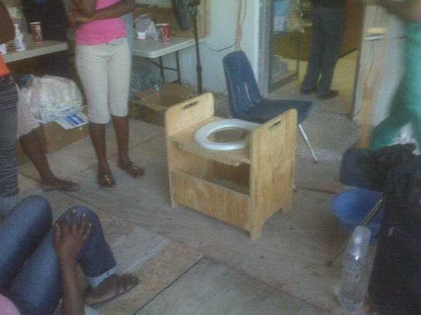Double harvest- a request was made for a commode- made on site