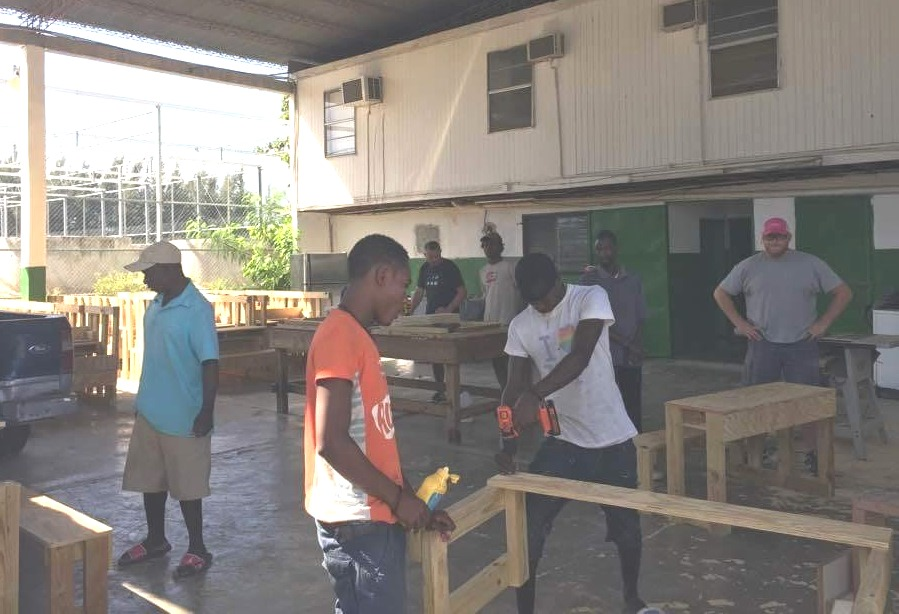 Constructing School Benches Together